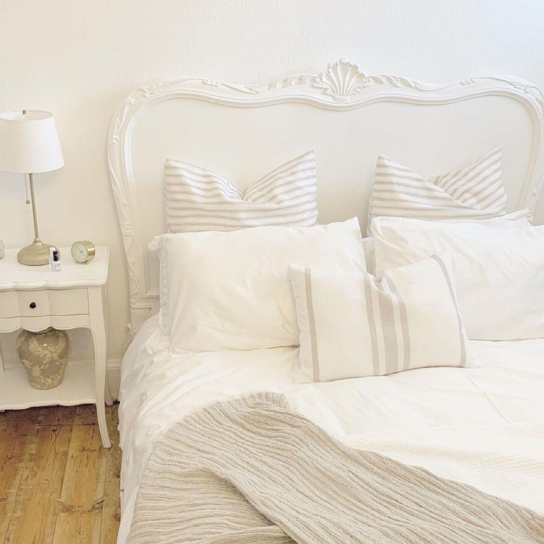 curved white furniture