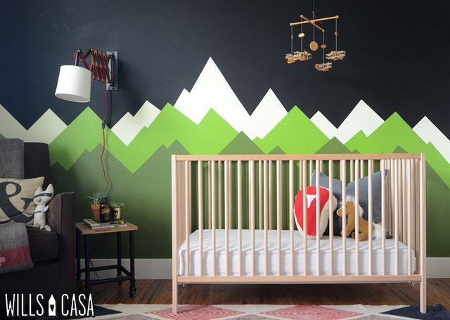 Woodland Nursery Mountain Mural