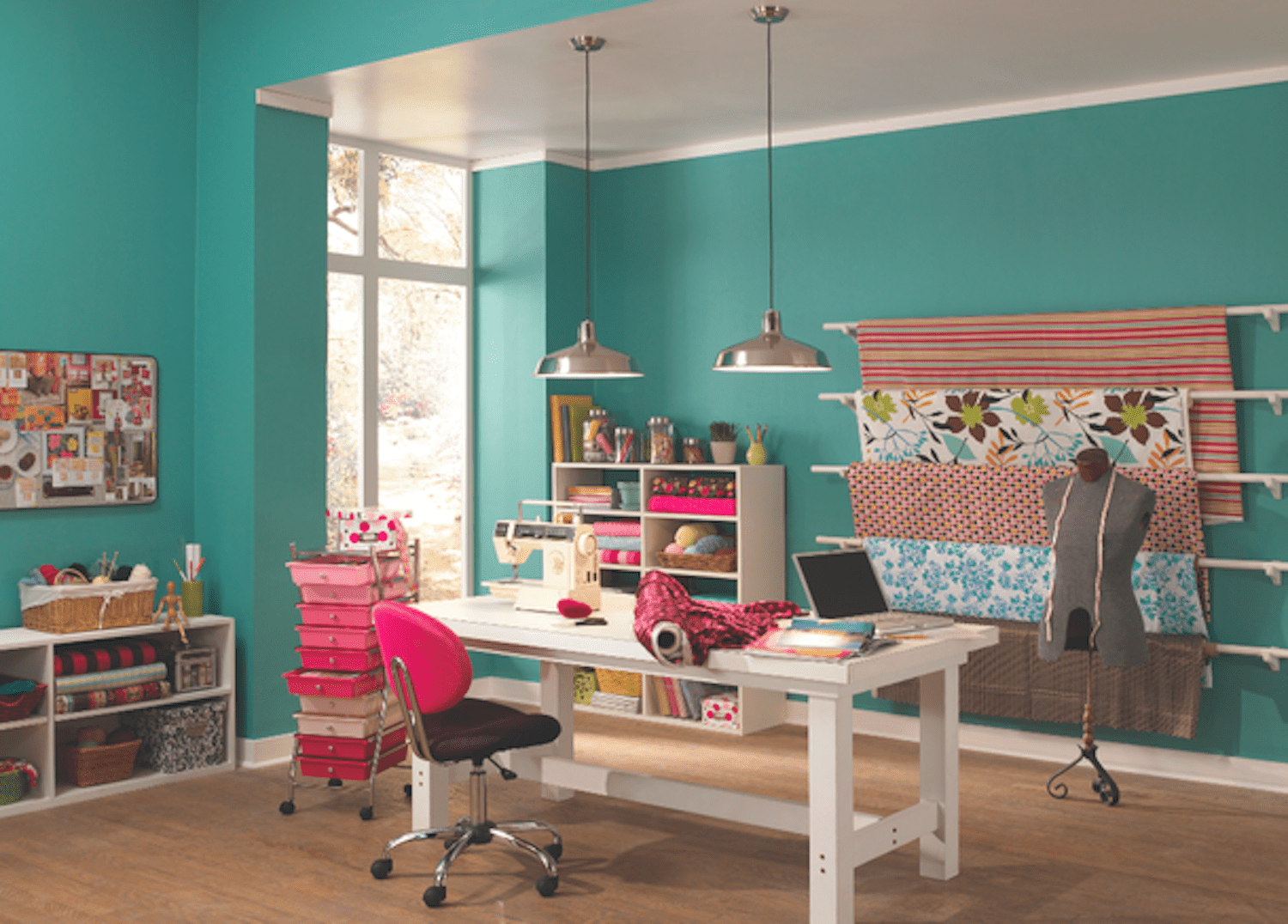 When Painting A Home Office Colors Like Green And Purple Are Suggested For Their Calming Effect