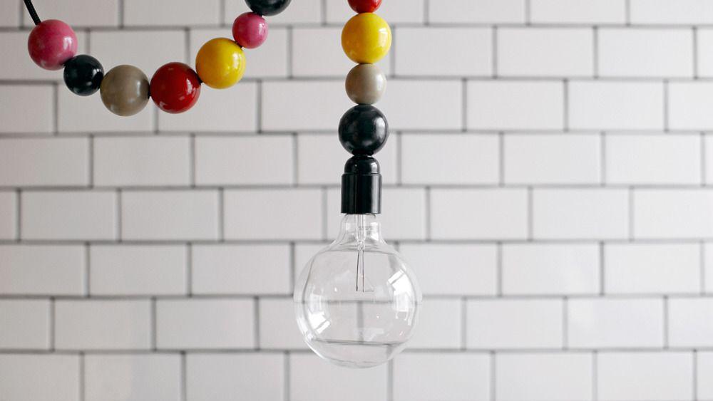 Beaded Cord Lamp