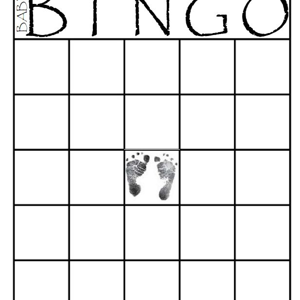 A Black And White Baby Shower Bingo Card