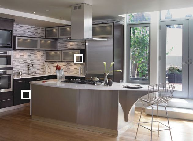 Elegant Kitchen Wall Cabinet End Shelf