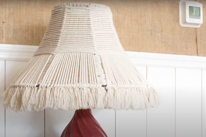 Rope lamp shade DIY