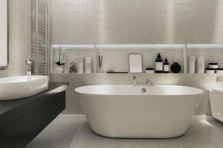 d13fa830a 15 Bathroom Shelf Ideas For a More Organized Home