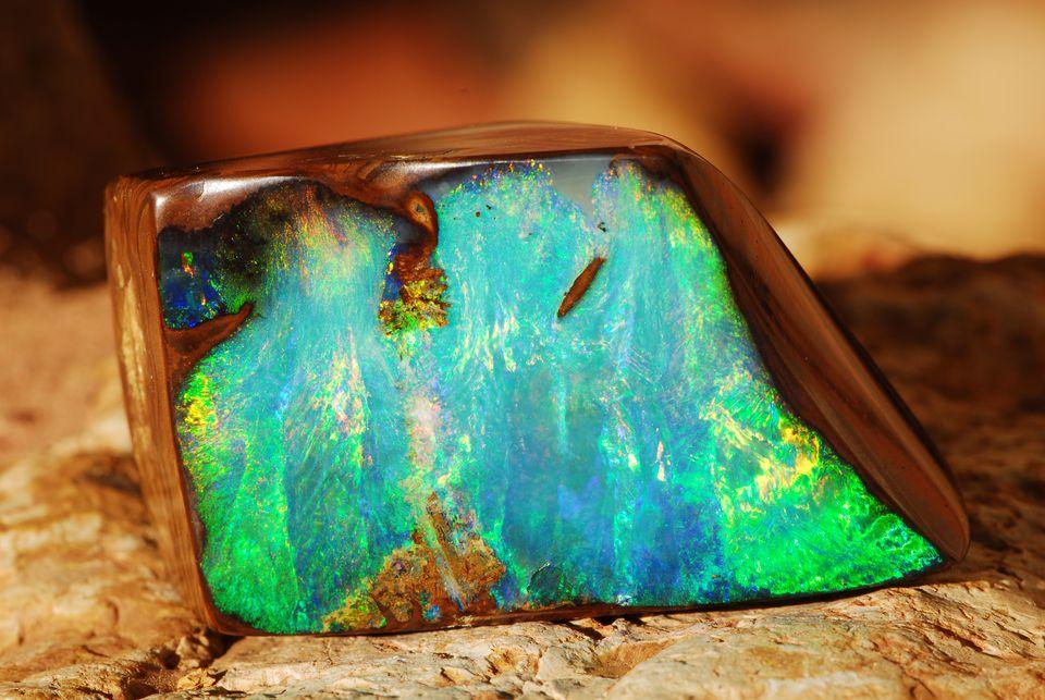 bright opal stone