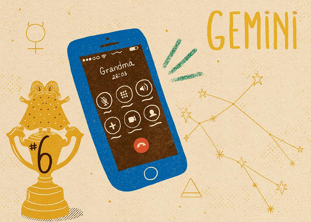 gemini zodiac politeness illustration