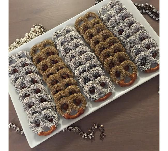Glittering Pretzels from Bijou Sweets