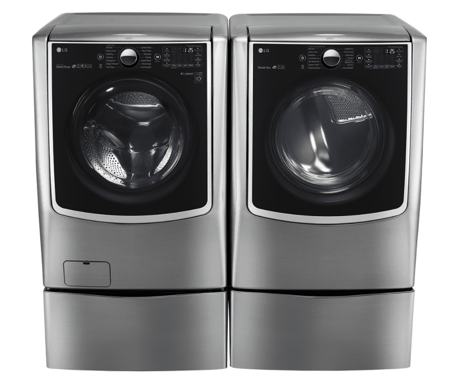 Best Smart Front Loading Lg 5 2 Cu Ft Washer With Steam And 9 0 Dryer