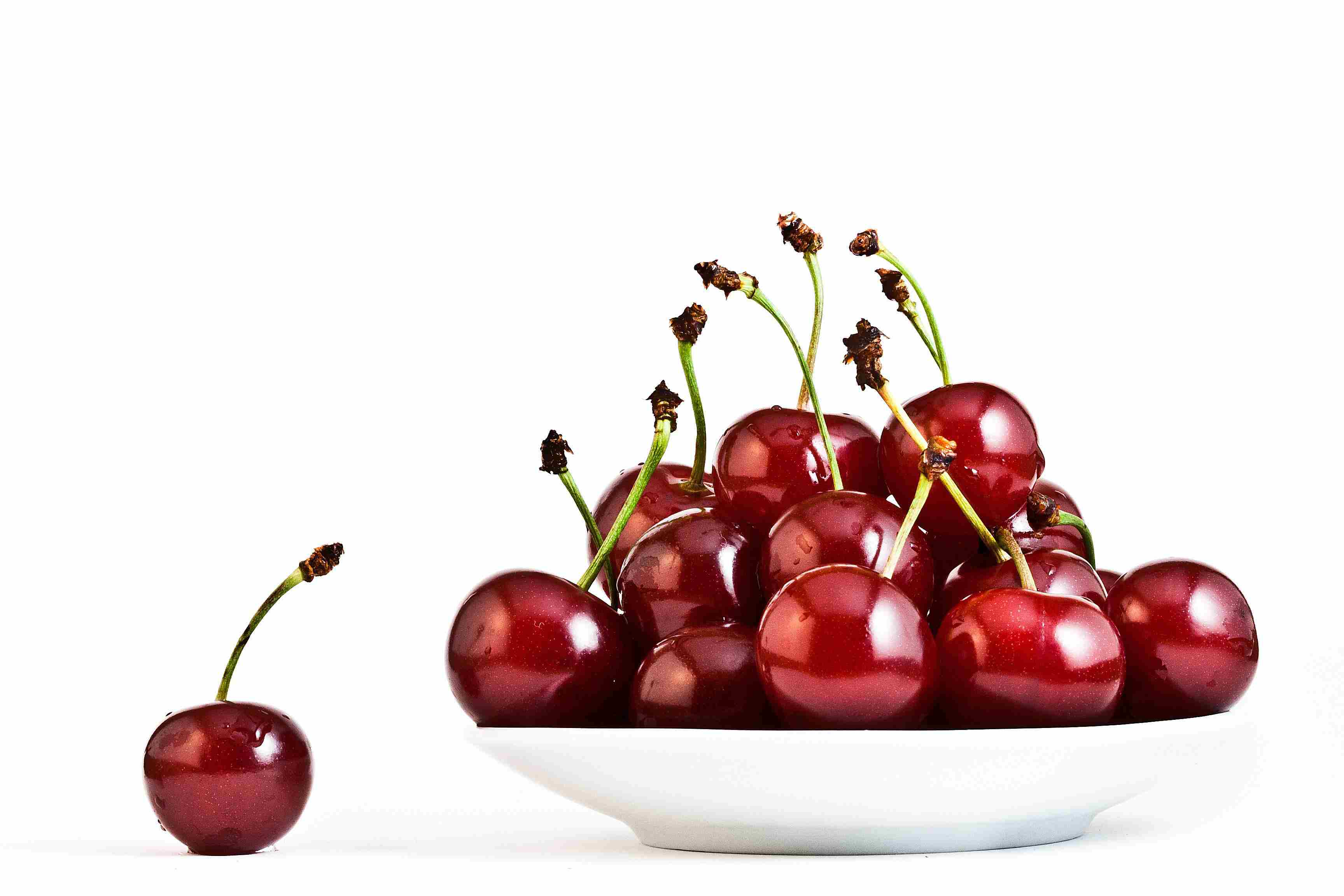 Cherries on a plate