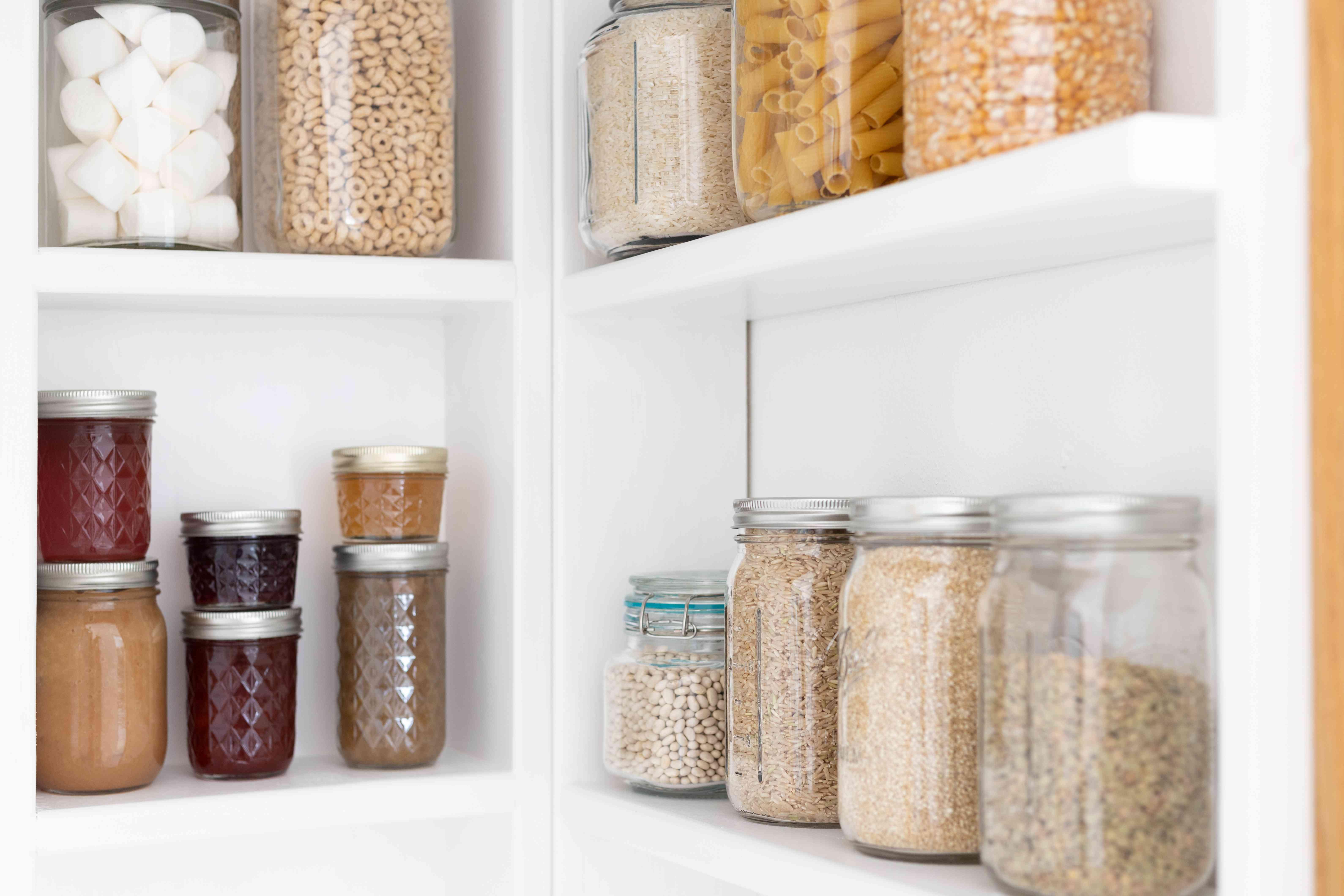 shelving inside a pantry
