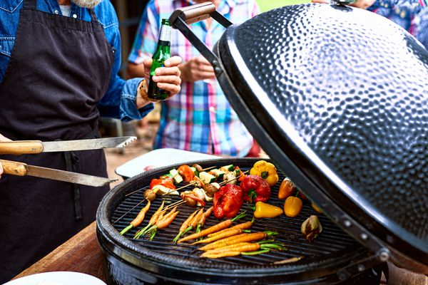 man-grilling