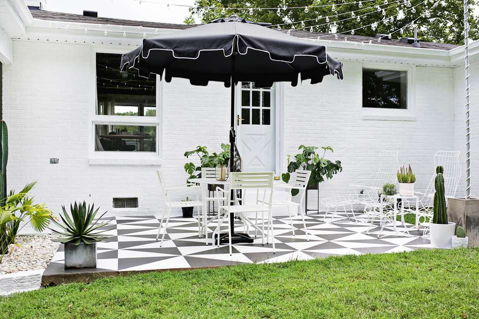Painted concrete patios