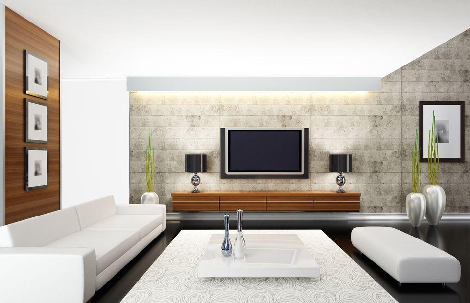 Modern Living Room - TV Room Lighting