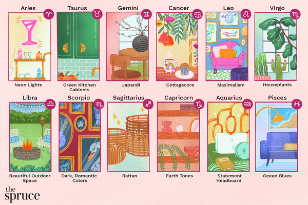 illustration of spring interior design trends