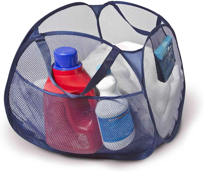 Smart Design Deluxe Mesh Pop Up Square Laundry Basket