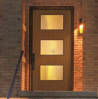 Where to buy mid century modern doors for Therma tru pulse