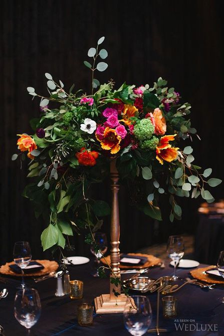 Centro de mesa para bodas Tulip Spring