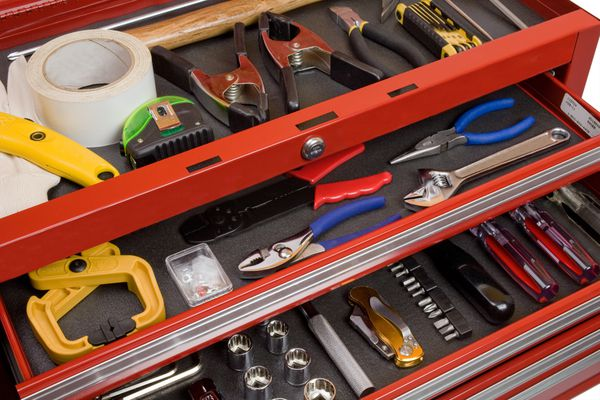 Tools in a toolbox