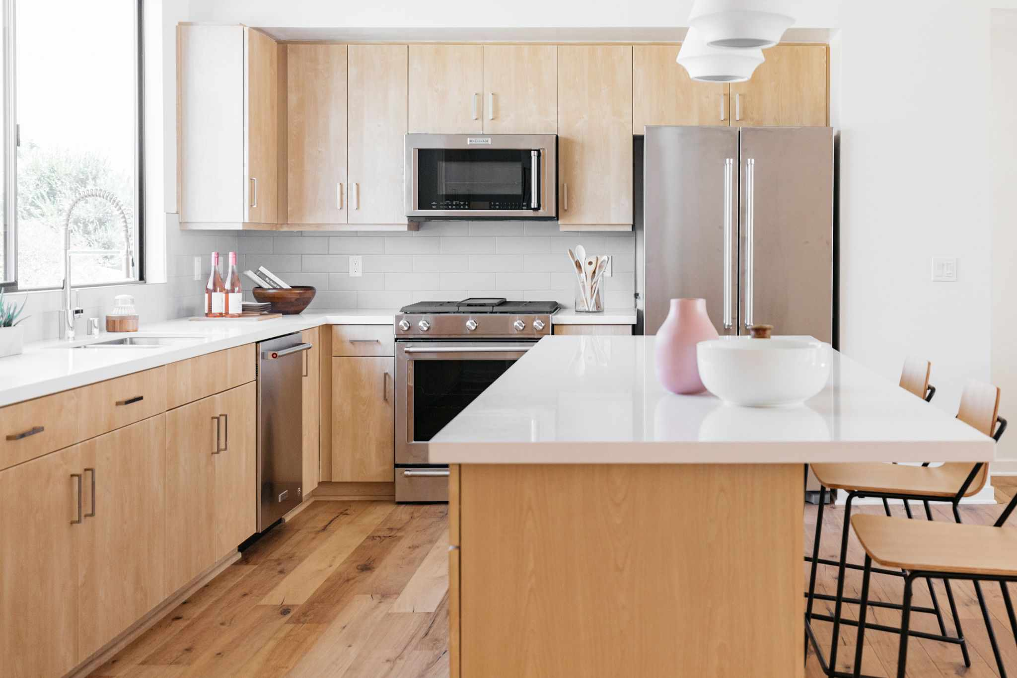 hardwood flooring in a kitchen