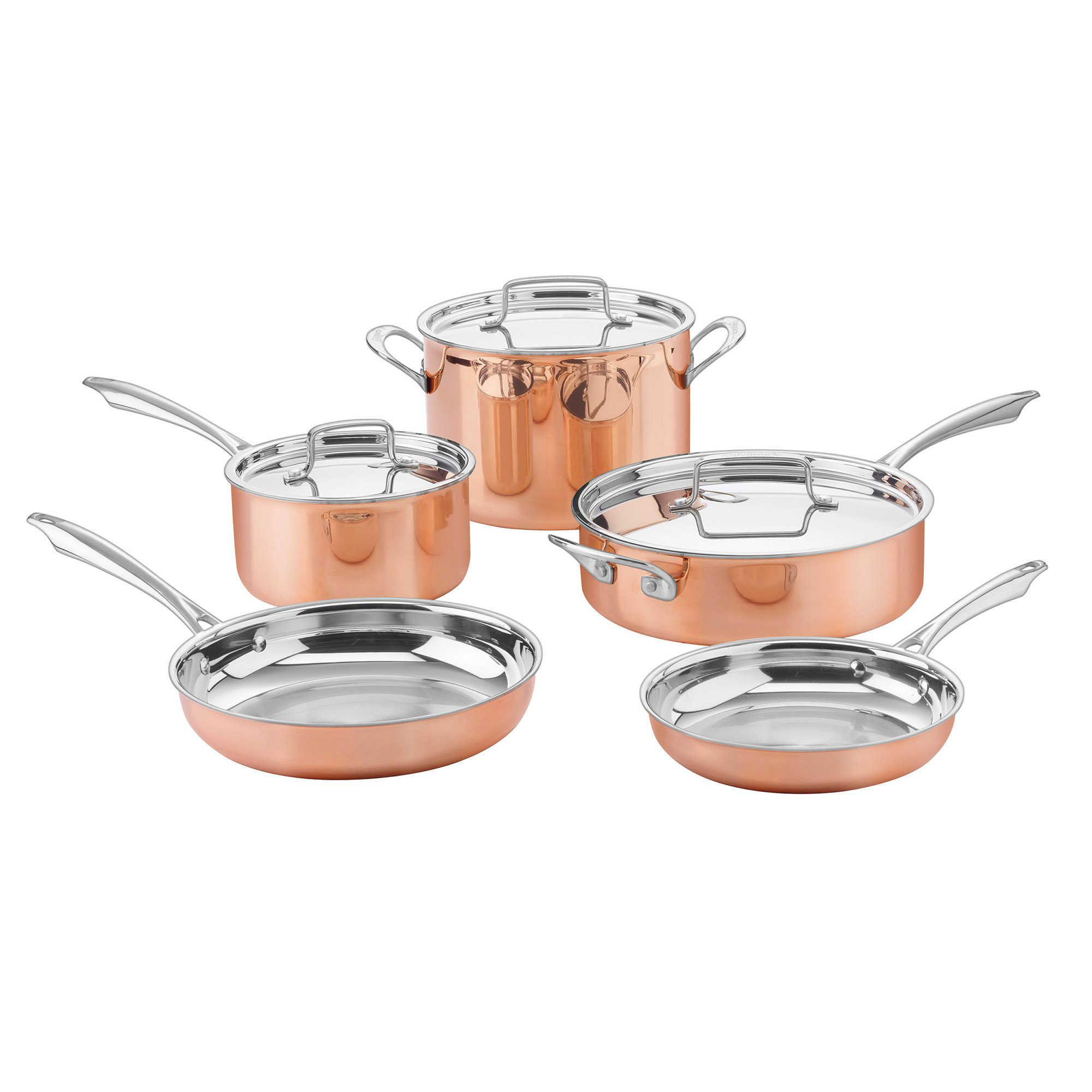 Cuisinart® 8-Piece Cookware Set in Copper