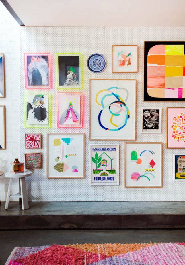 Neon gallery wall