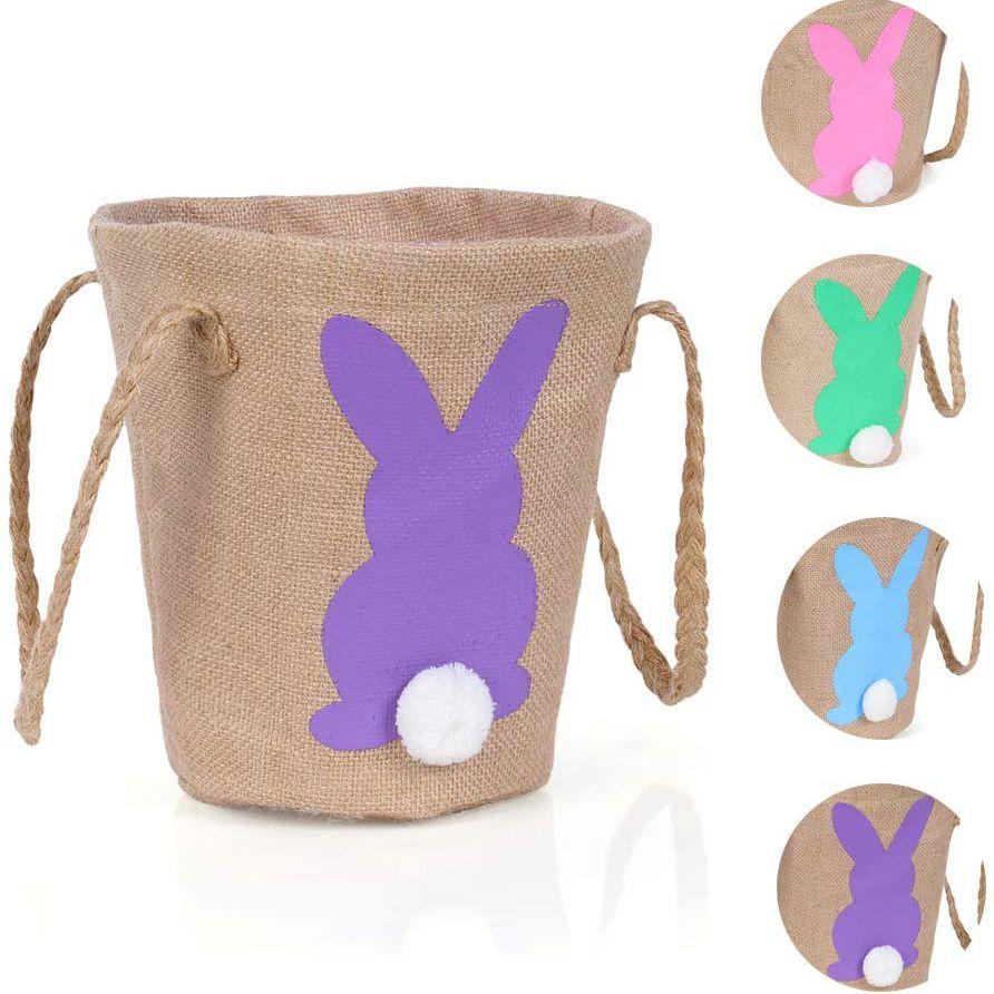 Bunny Burlap Bag