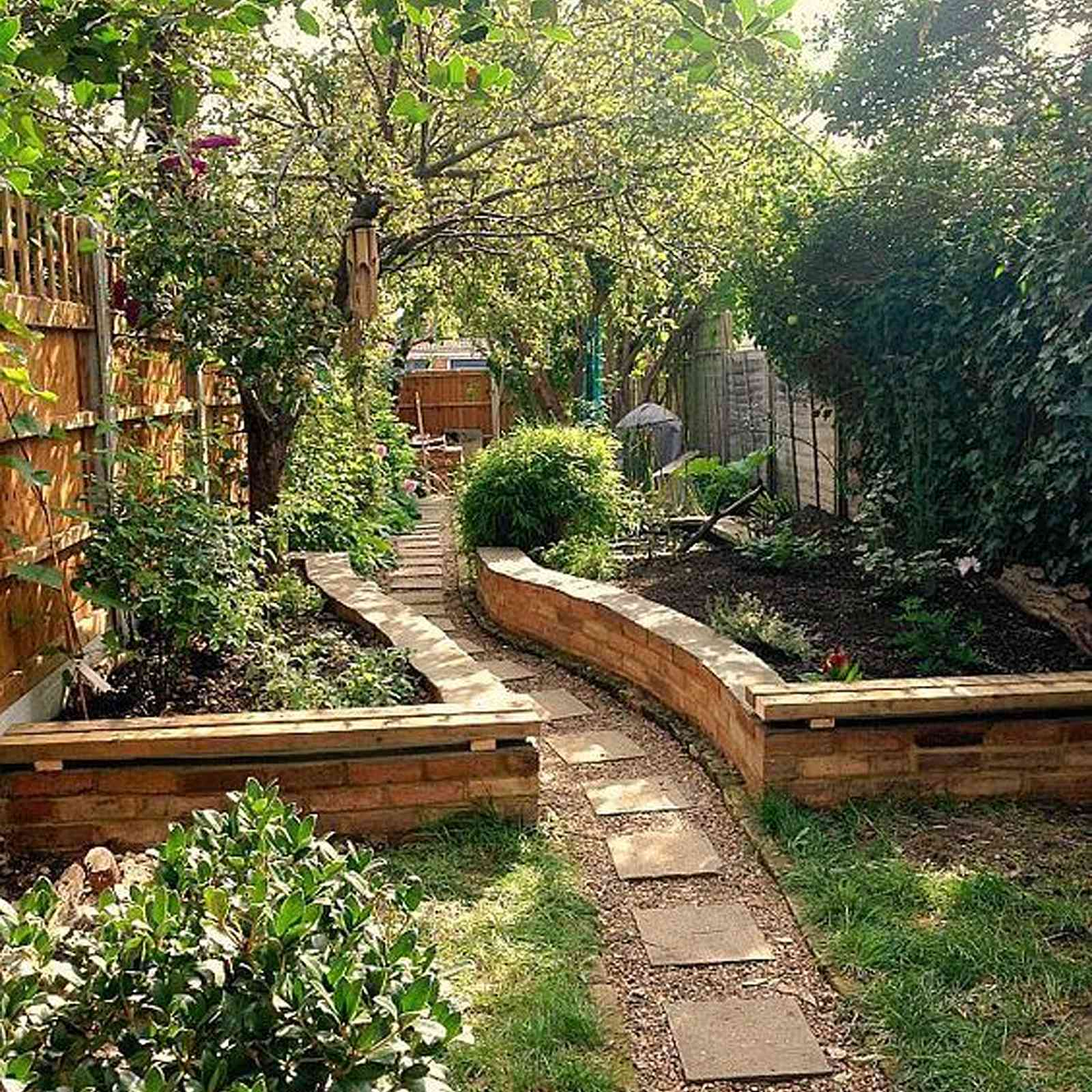 raised beds on a slope