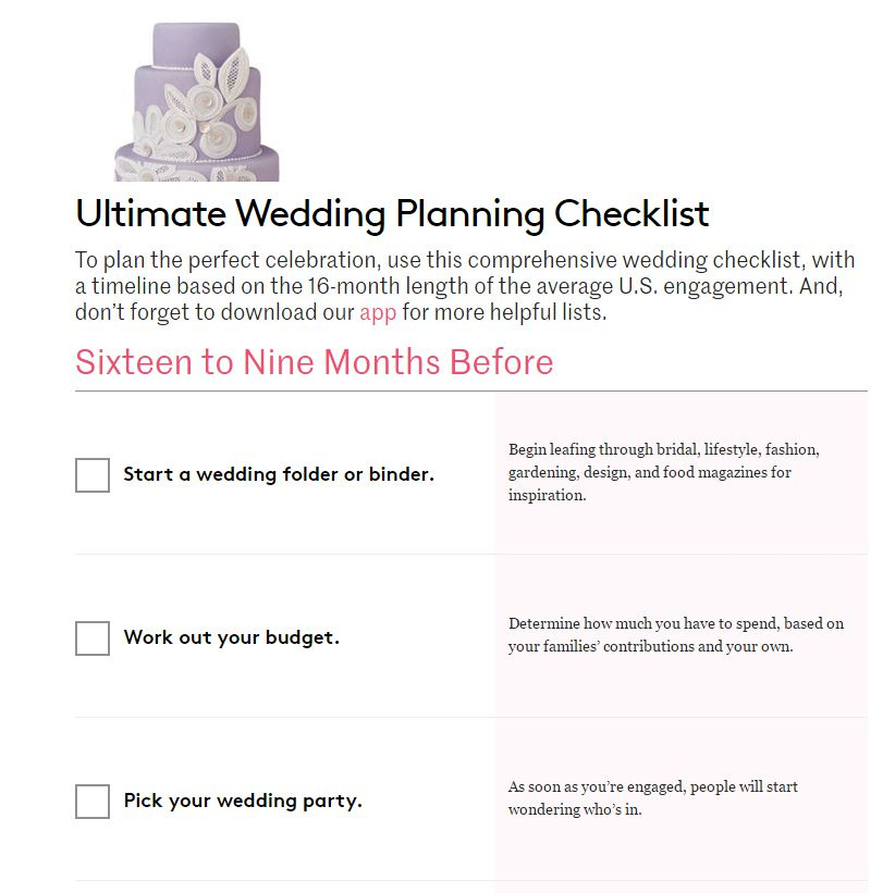 Wedding Planning Checklist: 11 Free, Printable Wedding Planning Checklists