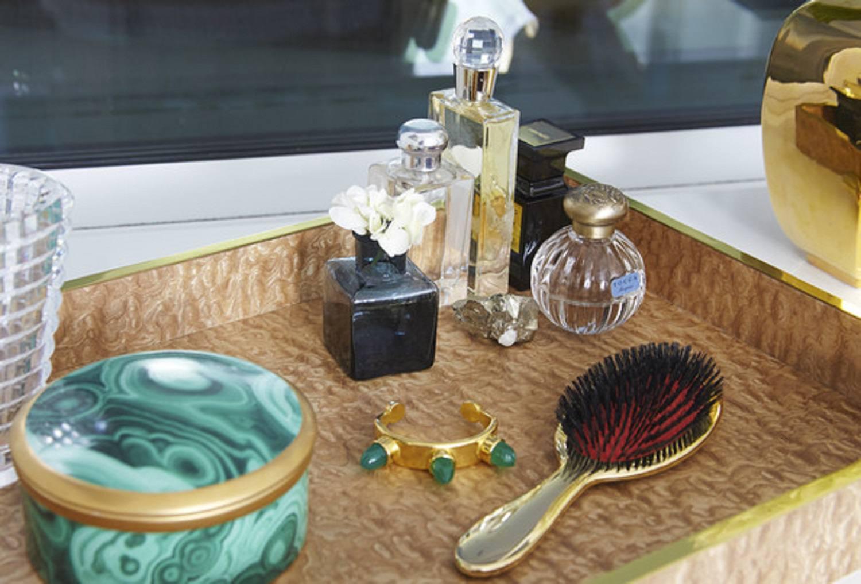 Pretty tray on vanity