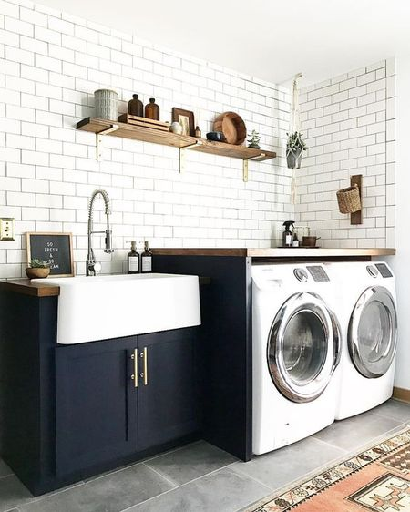 Farmhouse Sink In Laundry Room