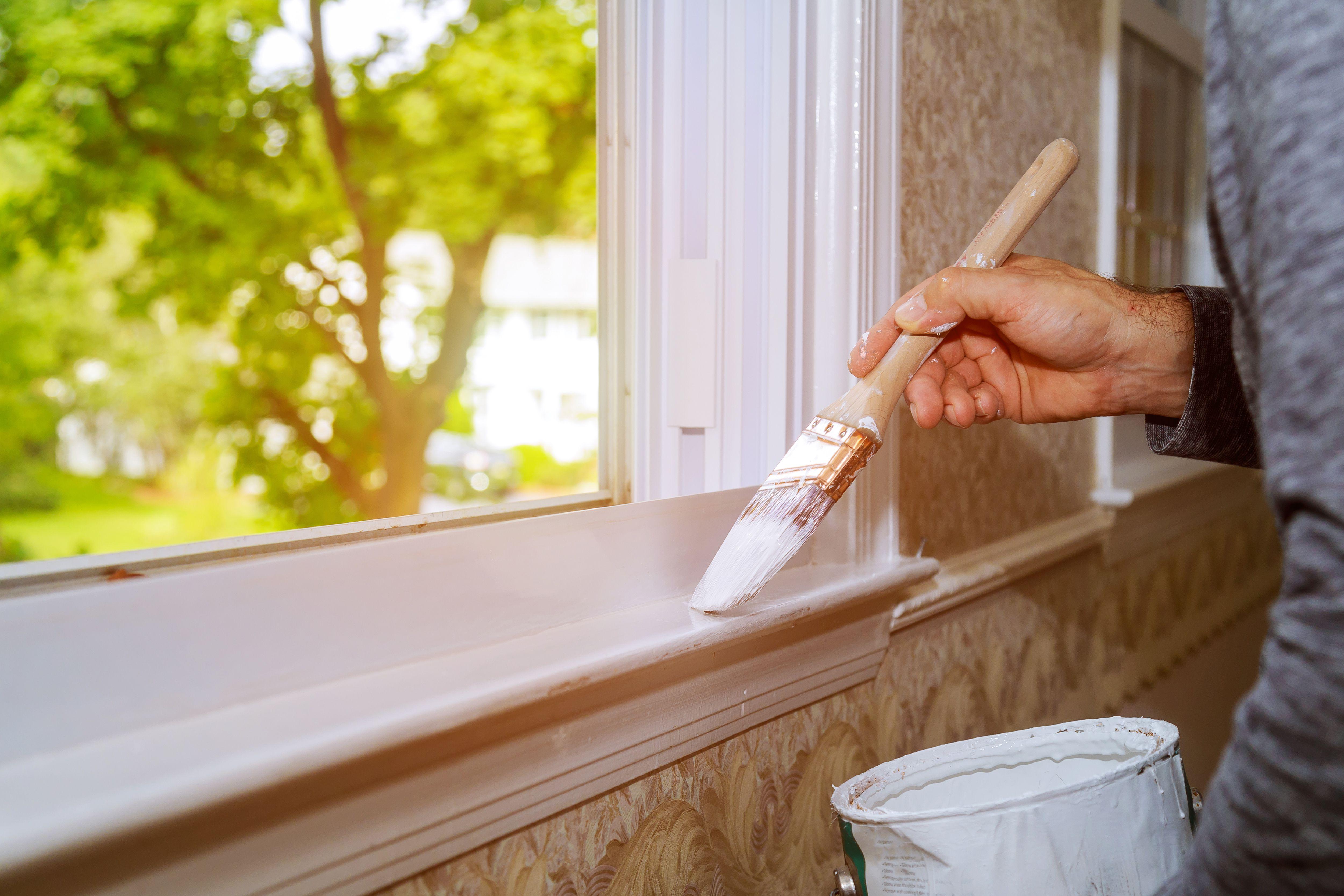 Painting Wood Trim Windows