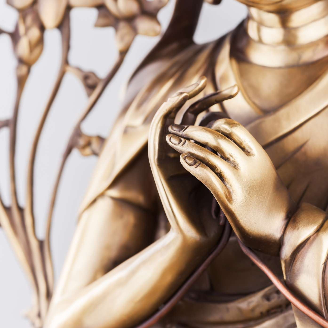 Bodkhisattva Avalokiteshvara. Arms in position Dkharmachakra mudra