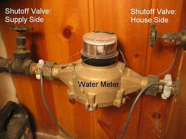 water meter shutoff