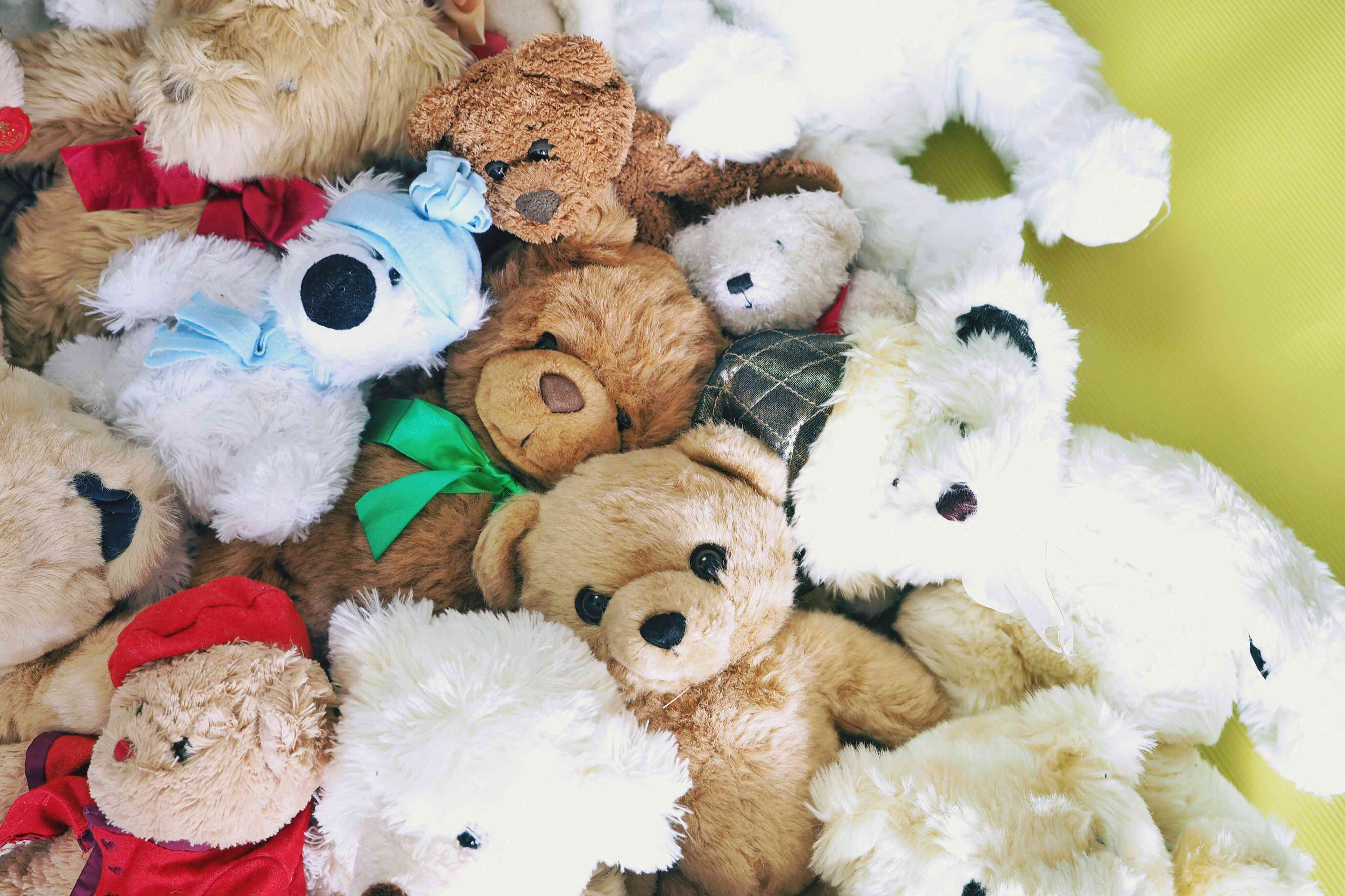 Directly Above Shot Of Stuffed Toys