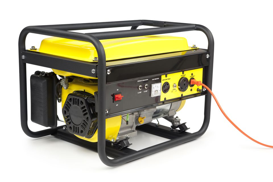 a yellow and black portable generator