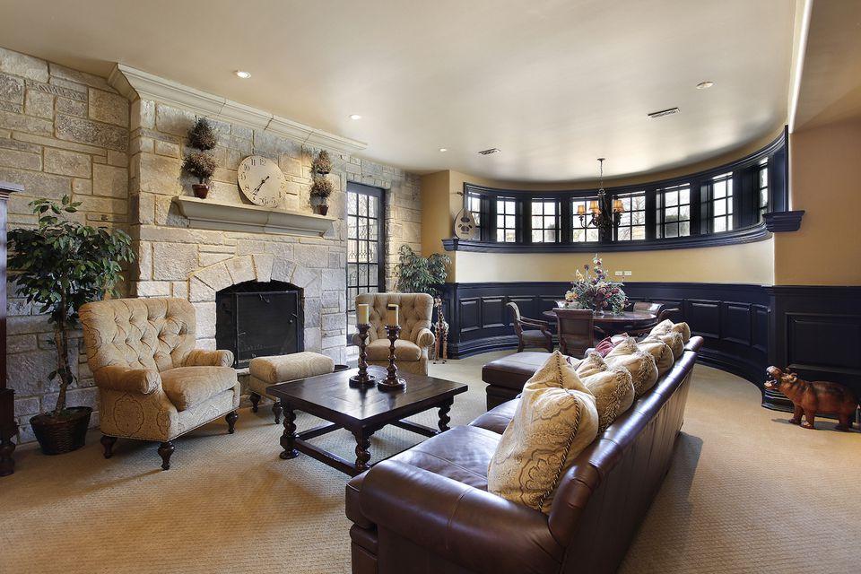 bonus room home staging basement