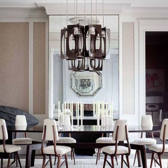 Contemporary Pink Dining Room