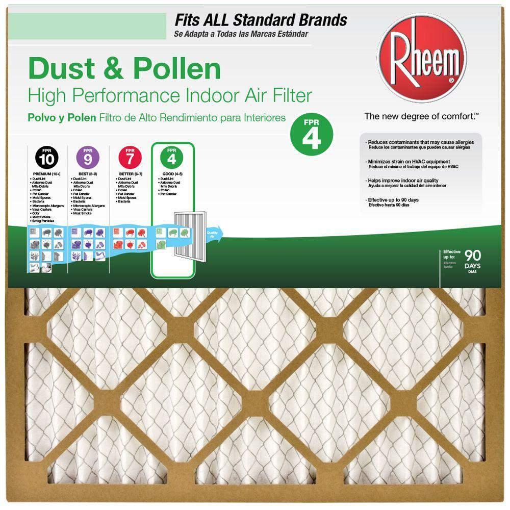 Honeywell Allergen Plus Pleated FPR 10 Filter 16 in x 25 in x 4 in MERV 12