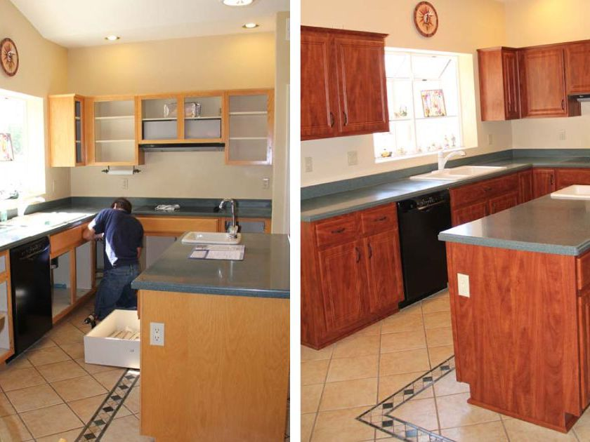 How Cabinet Refacing Works The Basic, How Much Does It Cost To Change Kitchen Cabinet Doors