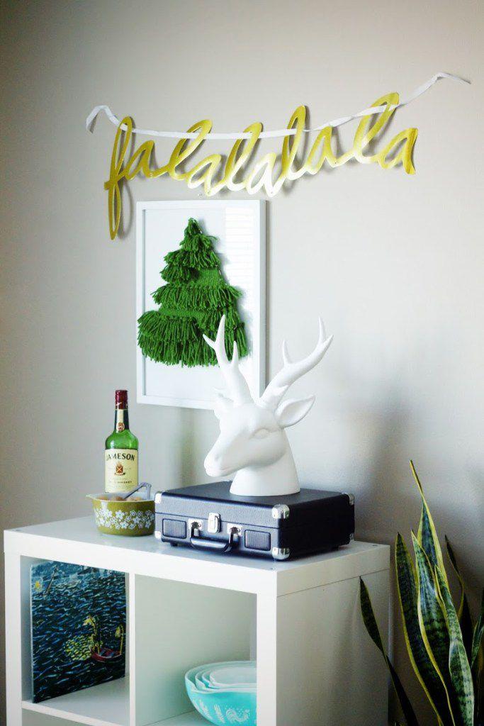 woven christmas tree hanging