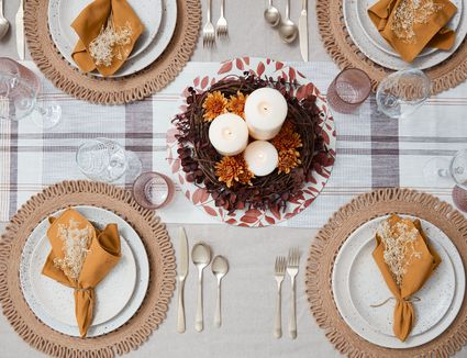 Formal table setting for Thanksgivign