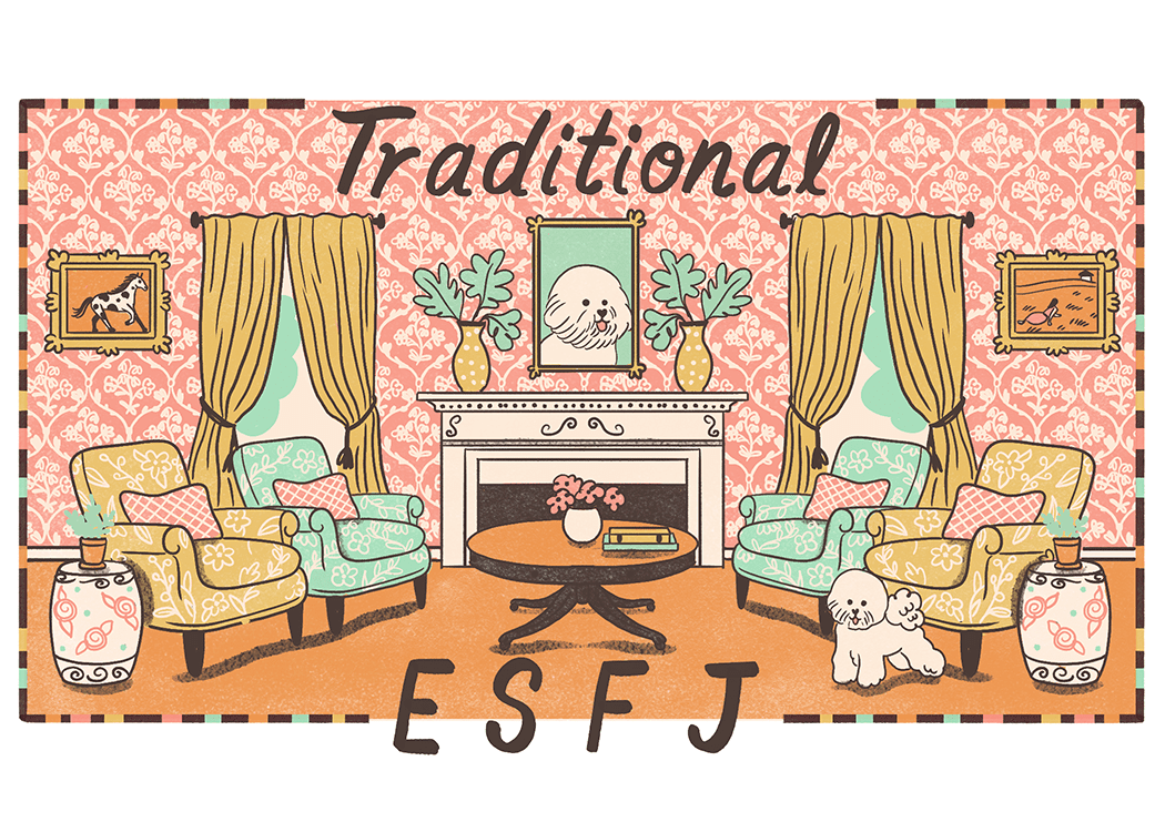An illustration of the ideal home for an ESFJ