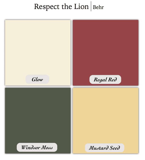 Juego of Thrones Lion Color Scheme