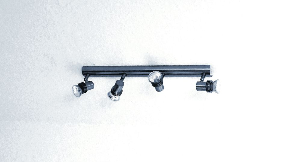 A set of track lights