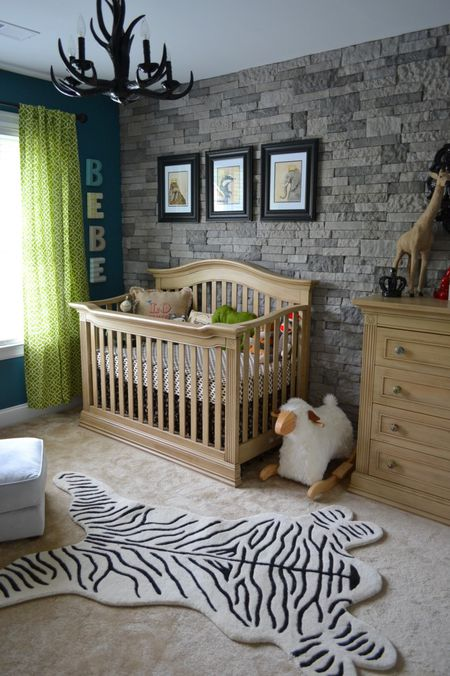 Faux Stone Accent Wall Project Nursery