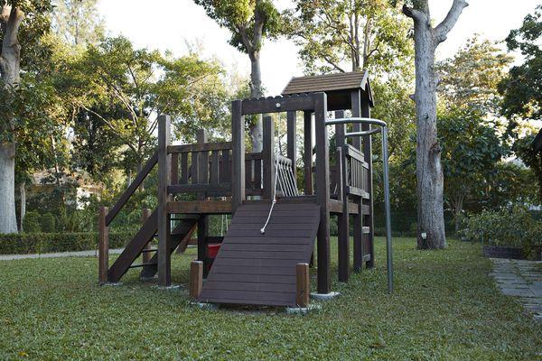 Playground in grassy yard