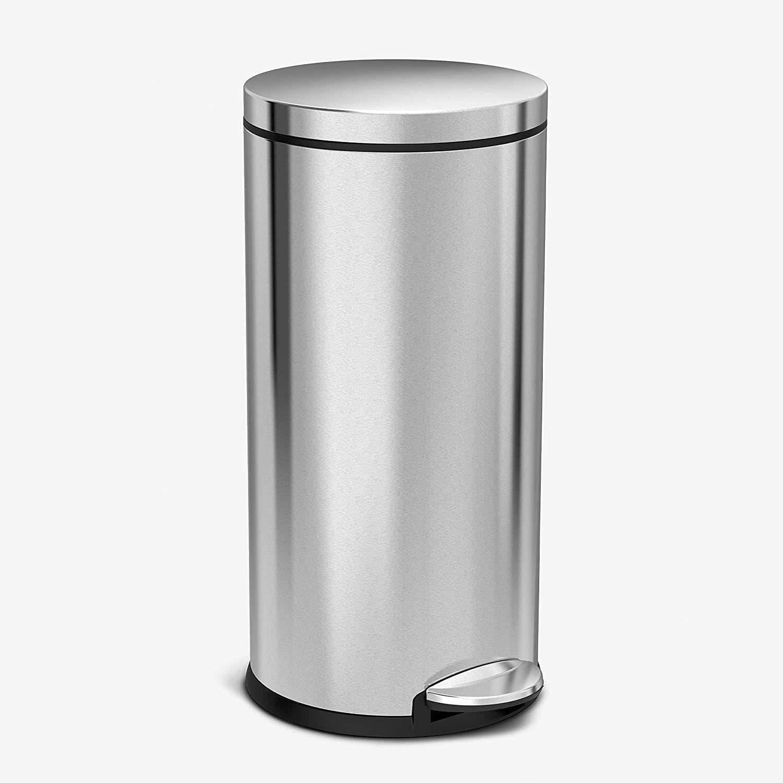 simplehuman 30 Liter / 8 Gallon Round Step Trash Can