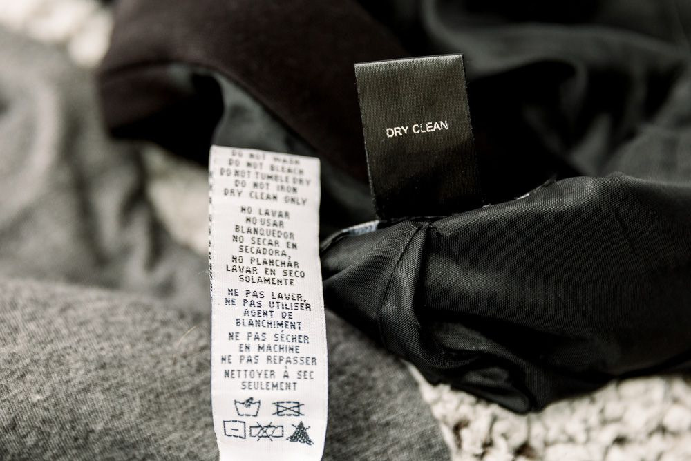 dry clean only labels