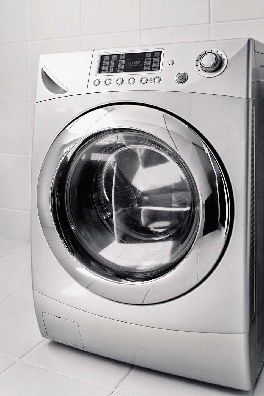 Washing machine in a bathroom