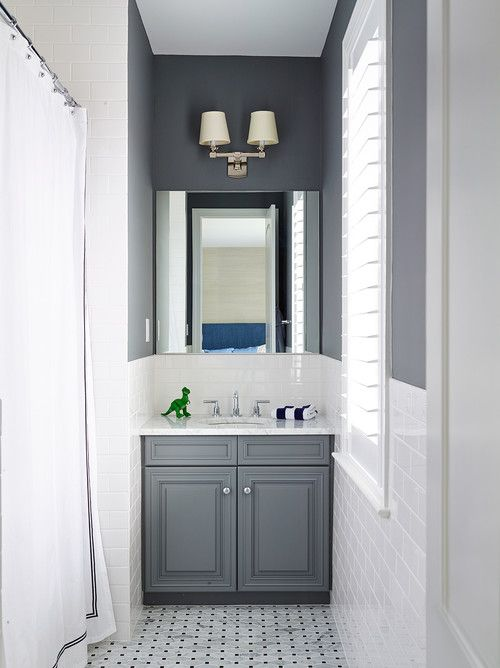 Gray And White Bathroom | 17 Classic Gray And White Bathrooms